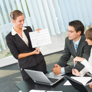 Business people at business meeting, seminar or conference
